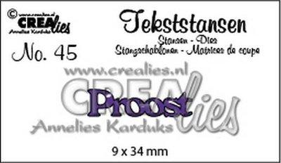 Crealies Tekststans NL 45 - Proost