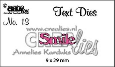 Crealies Tekststans UK 13 - Smile
