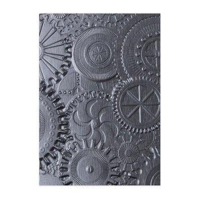 Sizzix 3-D Texture Fades Embossing Folder - Mechanics 662715