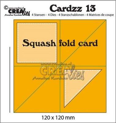 Crealies Cardzz 13 - Squash Fold Card