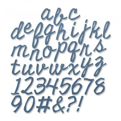 Sizzix Thinlits Die - Cutout Script (3/4