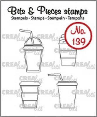 Crealies Bits & Pieces 139 Mok om mee te nemen