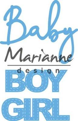 Marianne Design Creatable - Baby Text Boy & Girl LR0576 (pre-order 1-19)