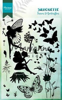 Marianne Design Stempel - Silhouette Fairies & Butterflies CS1016