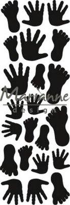Marianne Design Craftable - Punch Die Handjes & Voetjes CR1457 (pre-order 1-19)