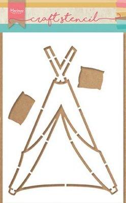 Marianne Design Craft Stencil - Tipi PS8021