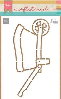 Marianne Design Craft Stencil - Wheelbarrow PS8022