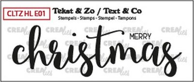 Crealies Stempel Text & Co Handlettering  1 - Merry Christmas