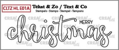 Crealies Stempel Text & Co Handlettering  1A - Merry Christmas