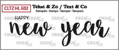 Crealies Stempel Text & Co Handlettering  2 - Happy New Year