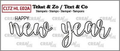 Crealies Stempel Text & Co Handlettering  2A - Happy New Year
