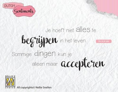 Nellie's Choice Clearstamp - Je hoeft niet alles.. SENC012