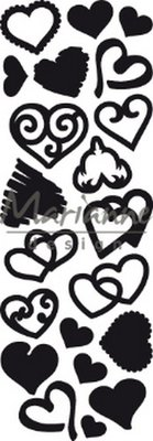 Marianne Design Craftable - Punch Die Sweet Hearts CR1460 (pre-order 02-19)
