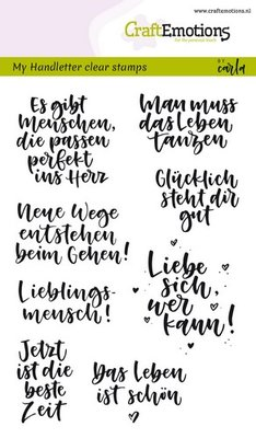 CraftEmotions Clearstamp A6 - Handletter Quotes