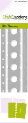 CraftEmotions Die - Ticket perforaties