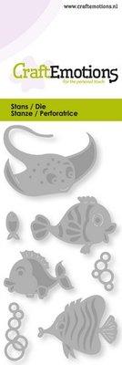 CraftEmotions Die - Tropische vissen