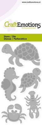 CraftEmotions Die - Schildpad, zeepaardje