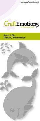CraftEmotions Die - Dolfijn, Walvis