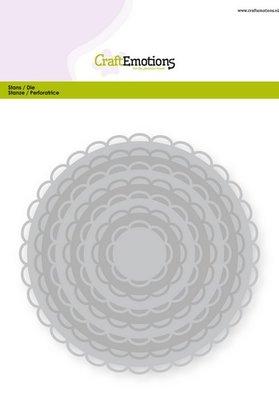 CraftEmotions Nesting Die - Cirkels Scalop XL
