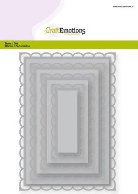 CraftEmotions Nesting Die - Rechthoeken Scalop XL