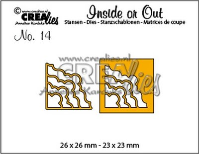 Crealies Inside or Out 14 - Corners H CLIO14