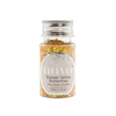 Nuvo Pure Sheen Confetti - Sunset Yellow Butterflies 1069N (pre-order 04-19)