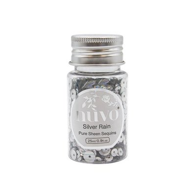 Nuvo Pure Sheen Sequins - Silver Rain 1144N