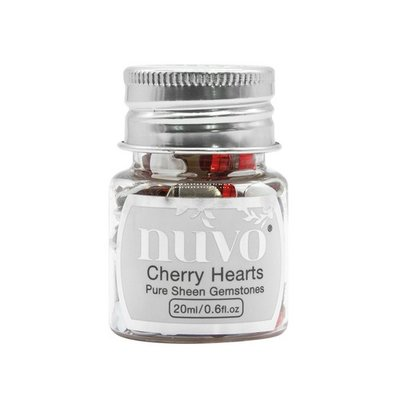 Nuvo Pure Sheen Gemstones - Cherry Hearts 1400N (pre-order 04-19)
