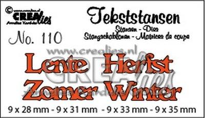 Crealies Tekststans NL 110 - Lente, Herfst, Winter, Zomer