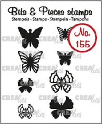 Crealies Bits & Pieces 155 Mini Vlinders 5 + 6