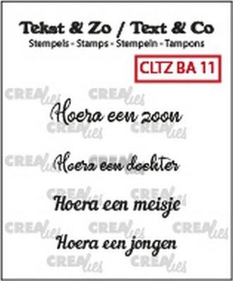 Crealies Tekst & Zo - Baby 11