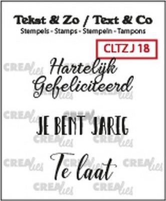 Crealies Tekst & Zo - Jarig 18
