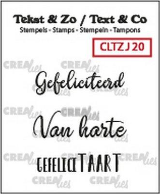 Crealies Tekst & Zo - Jarig 20