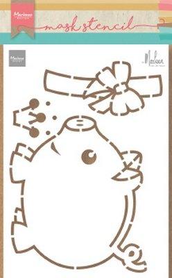 Marianne Design Craft Stencil - Piggybank PS8027 (pre-order 03-19)