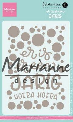 Marianne Design Stempel - Karin's Er is er een jarig KJ1729