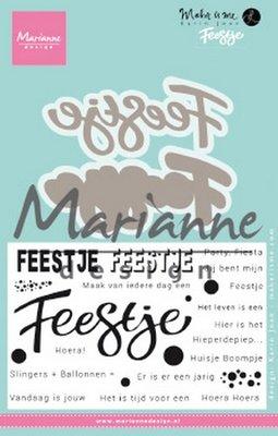 Marianne Design Stempel - Karin's Feestje KJ1728