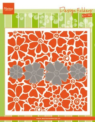 Marianne Design Embossing Folder Extra - Poppies DF3452