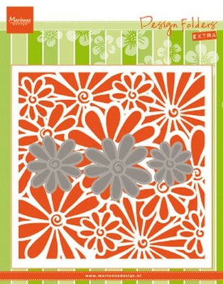 Marianne Design Embossing Folder Extra - Daisies DF3451