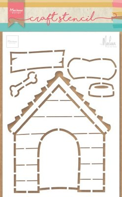 Marianne Design Craft Stencil - Doghouse PS8030