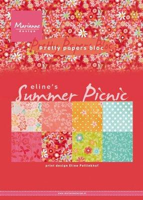 Marianne Design Paper Pack A5 - Eline's Summer Picnic PB7056