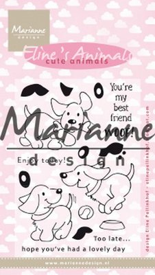 Marianne Design Stempel - Eline's Cute Animals - Puppies EC0177