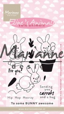 Marianne Design Stempel - Eline's Cute Animals - Bunnies EC0178