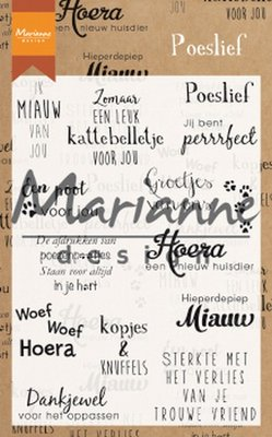 Marianne Design Stempel - Poeslief CS1023