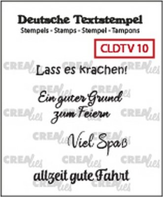 Crealies Tekst & Zo Deutsch - Viel  10