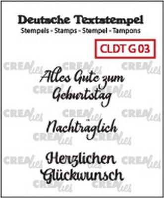 Crealies Tekst & Zo Deutsch - Geburtstag  3