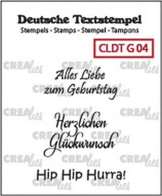 Crealies Tekst & Zo Deutsch - Geburtstag  4