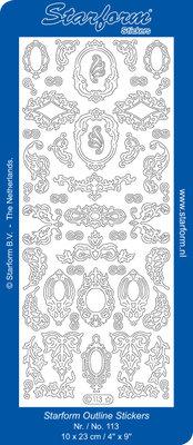 Starform Sticker Sheet - Decoration Frames - Goud 0113.001