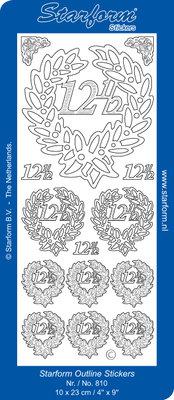 Starform Sticker Sheet - Jubilee 2: 12,5 - Zilver 0810.002