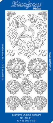 Starform Sticker Sheet - Jubilee 4: 25 - Zilver 0811.002