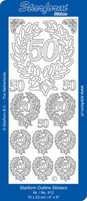 Starform Sticker Sheet - Jubilee 6: 50 - Zilver 0812.002